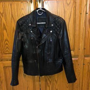 0c54d664be Zara Jackets   Coats - ZARA Black Tag genuine leather biker jacket